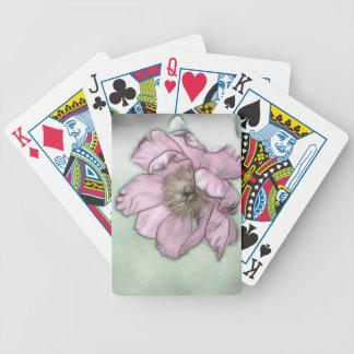 Croquis rose de fleur de pivoine cartes à jouer