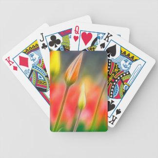 Croquis rouge et jaune de tulipe jeux de cartes