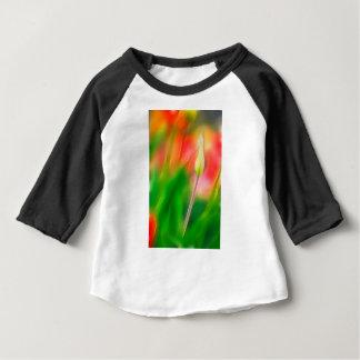 Croquis rouge et jaune vert de tulipe t-shirt pour bébé