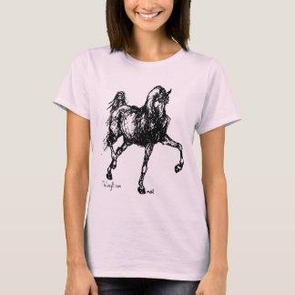 Croquis simple de cheval Arabe T-shirt