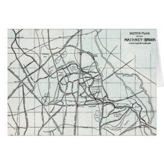 Croquis topographique du ruisseau de Hackney Carte De Vœux