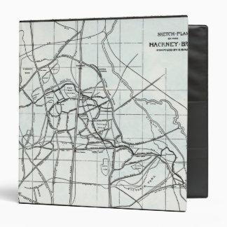 Croquis topographique du ruisseau de Hackney Classeur 3,81 Cm