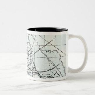 Croquis topographique du ruisseau de Hackney Mug Bicolore