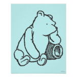 Croquis Winnie the Pooh 2 Poster