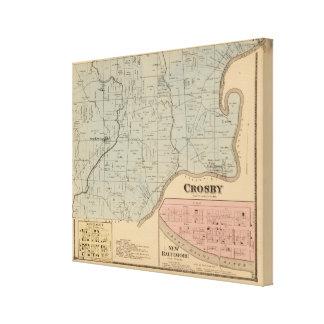 Crosby, Ohio Toiles Tendues Sur Châssis