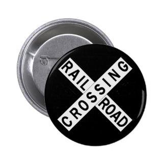 Crossbuck Badge Avec Épingle