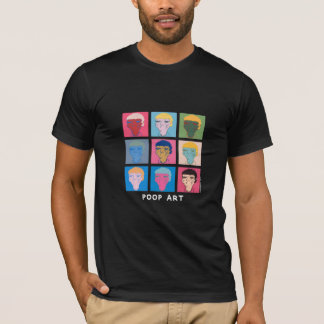 "CrousTshirt ""Poop Art"" noir T-shirt"