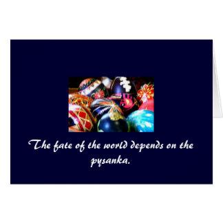 Croyance de gens de Pysanka Cartes