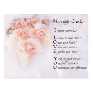 Croyance de mariage carte postale