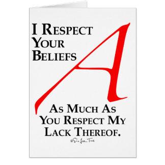 Croyances de respect cartes