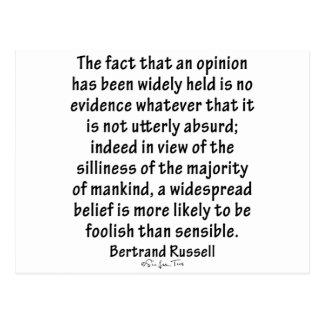 Croyances par Bertrand Russell Carte Postale