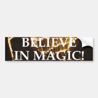 Croyez à la magie autocollant de voiture