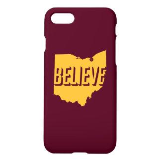 Croyez à l'or/au rouge foncé de cas de l'iPhone 7 Coque iPhone 8/7
