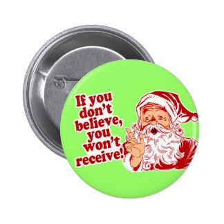 Croyez au Père Noël, Noël Badge Rond 5 Cm