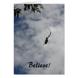 Croyez ! - carte pour notes d'araignée