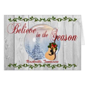 Croyez en carte de Noël de Nashville de saison