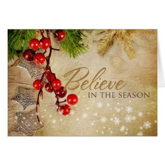 Croyez en carte de voeux de saison