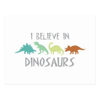Croyez en dinosaures carte postale