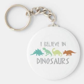 Croyez en dinosaures porte-clé rond