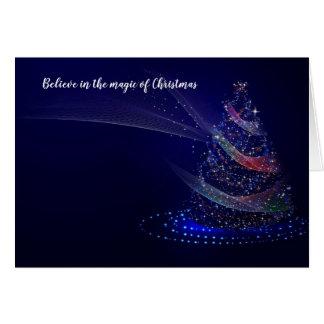 Croyez en magie de carte de Noël