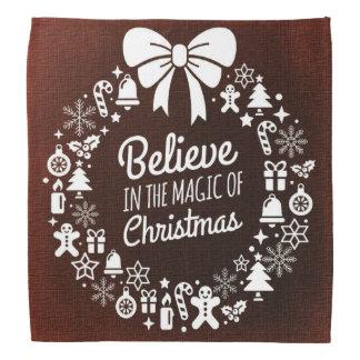 Croyez en magie de Noël Bandana