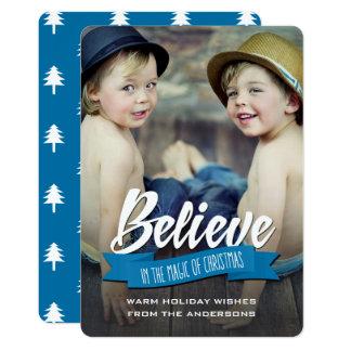 Croyez en magie de Noël. Cartes photos