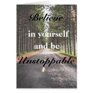 Croyez en vous-même la carte de voeux