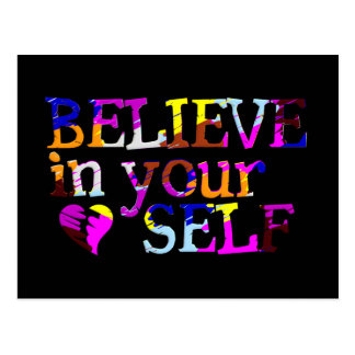 Croyez en vous-même la carte postale