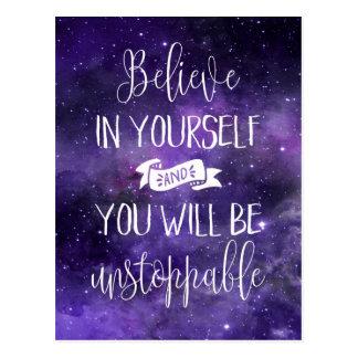 Croyez en vous-même la citation carte postale