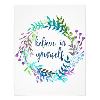 """""""Croyez en vous-même"""" la citation inspirée Impression Photo"""