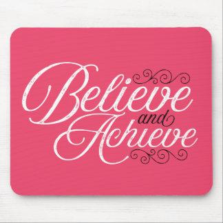 Croyez et réalisez le tapis de souris rose