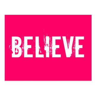 Croyez - inspirez, motivez, dentelez les cartes