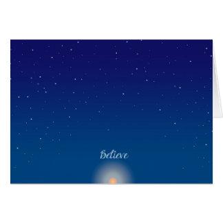 Croyez - la carte de voeux de solstice d'hiver