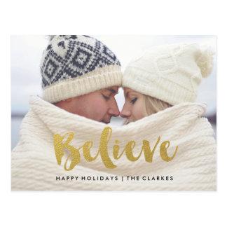 Croyez la carte postale de vacances de miroitement