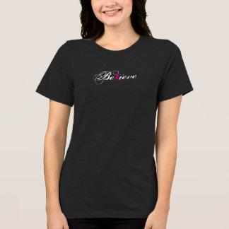 Croyez la chemise de conscience de cancer du sein t-shirt