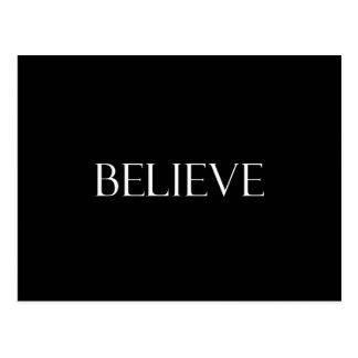 Croyez la citation inspirée de foi de citations cartes postales