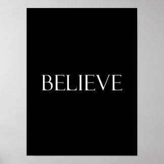Croyez la citation inspirée de foi de citations posters
