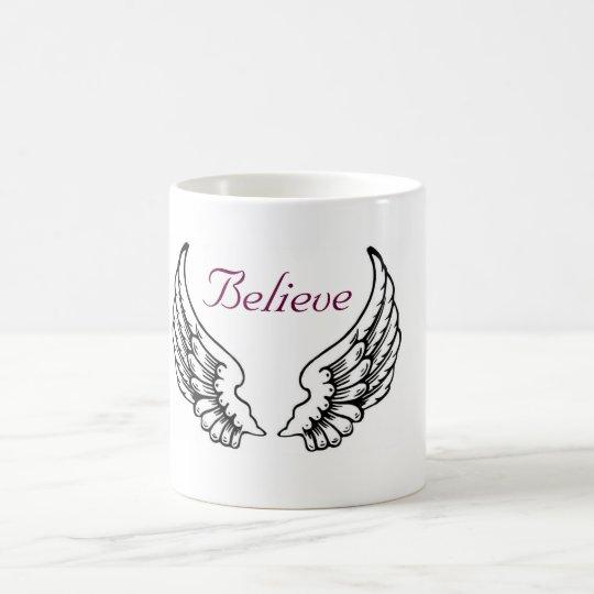 croyez la tasse de caf d 39 ailes d 39 ange