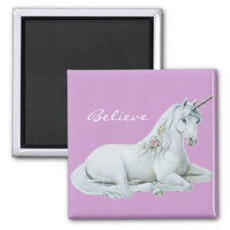 Croyez l'aimant carré de licorne magnet carré