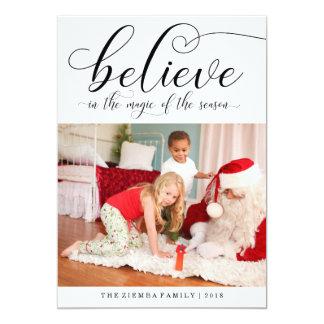 Croyez le carte photo de vacances de Noël de