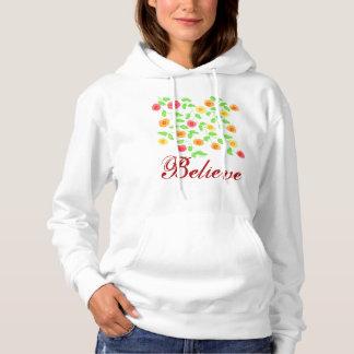 Croyez le sweat - shirt à capuche fleuri