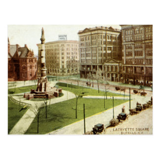 Cru 1915 carré de Buffalo NY de Lafayette Carte Postale