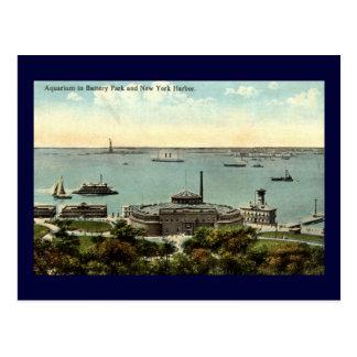 Cru 1920 de l'aquarium NY de parc de batterie Cartes Postales