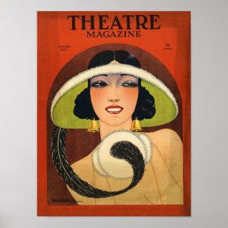 Cru 1924 de couverture de magazine de théâtre Deco Posters