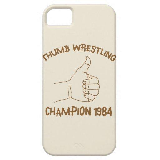 Cru 1984 de lutte de champion de pouce coques iPhone 5