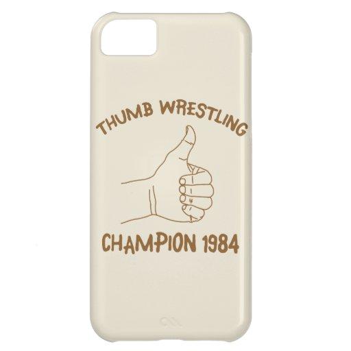 Cru 1984 de lutte de champion de pouce coques iPhone 5C