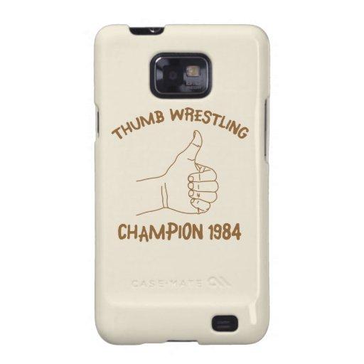 Cru 1984 de lutte de champion de pouce coque  pour galaxy s2 de samsung