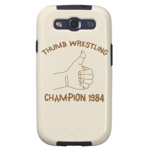 Cru 1984 de lutte de champion de pouce coques samsung galaxy s3
