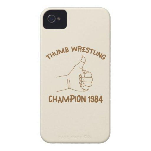 Cru 1984 de lutte de champion de pouce coques iPhone 4 Case-Mate