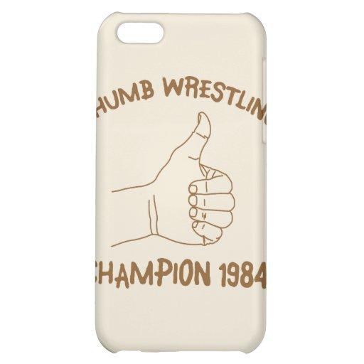 Cru 1984 de lutte de champion de pouce étuis iPhone 5C